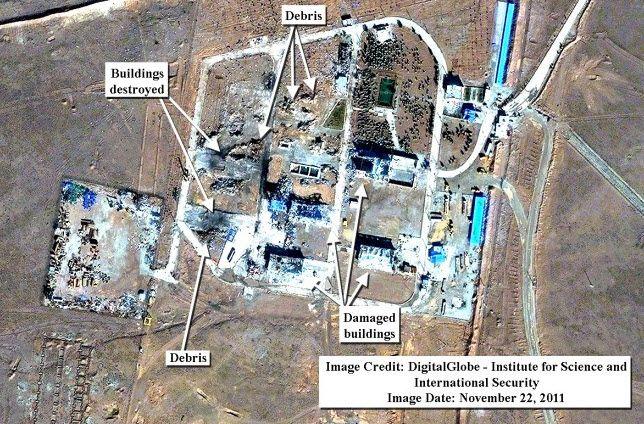 Bildet fra 22. november, ni dager etter eksplosjonen, viser omfattende ødeleggelser. (Foto: Digital Globe - ISIS)