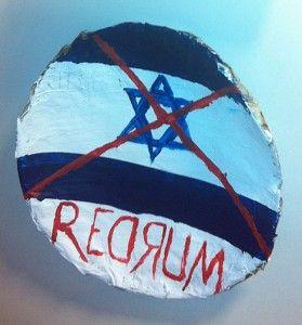 Demonisering av Israel på Nesbru vgs. (Foto: Privat)