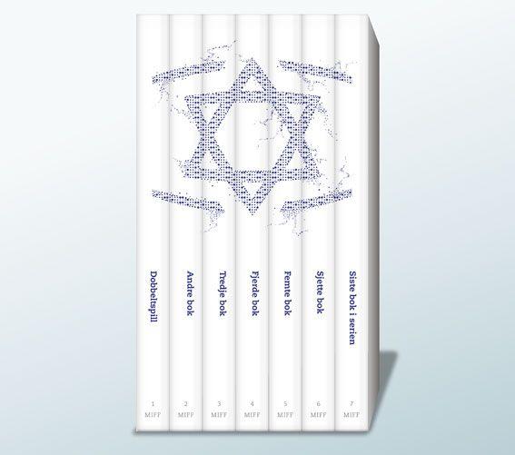 Boken Dobbeltspill er startskuddet på en serie på syv MIFF-bøker med aktuelle temaer knyttet til Israel, jødene og Midtøsten. Vi planlegger 1-2 utgivelser i året. Alle bøkene kommer i et vakkert og moderne design. Når alle syv bøkene har fått plass i bokhyllen din, vil de danne MIFFs vakre logo (se bilde). Bli medlem av MIFFs bokklubb fra første stund for å sikre deg alle utgivelsene! Medlemskapet er gratis.