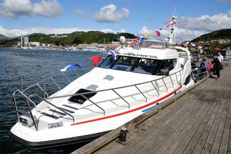 Båten vel tilbake til kais i Sandnes. (Foto: Conrad Myrland, MIFF)