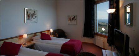 Et av soverommene på Stav Hotel.
