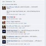 Første skjermdump fra AUF-medlemmets Facebook-side.