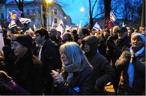 Et stort antall Israel-venner fra hele landet hadde møtt fram til støttemarkeringen.