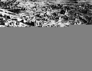 Etter teppebombing i Wesel i 1945.
