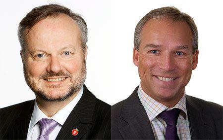 Kom for å høre stortingsrepresentantene Peter N. Myhre (FrP) og Hans Olav Syversen (KrF).