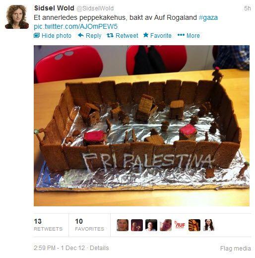 NRK-reporter Sidsel Wold publiserte dette bildet på Twitter lørdag 1. desember. Samme dag holdt hun foredrag for AUF Rogland.