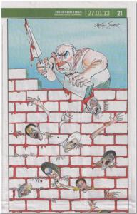 Netanyahu-karrikaturen i Sunday Times.