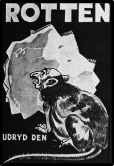 Rotter. Ødelegg dem. Plakat fra Danmark, omkring 1940.