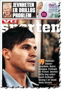 Faksmile av forsiden av VG Sporten 5. juni 2013.