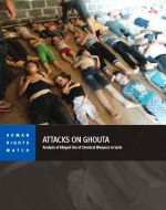 Forsiden til Human Rights Watch' rapport om det kjemiske angrepet i Damaskus 21. august 2013. (Foto: hrw.org)