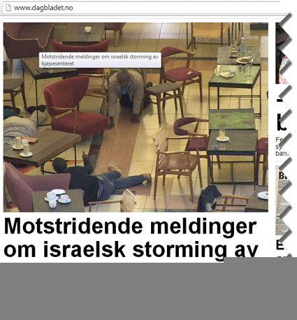 Skjermdump av Dagbladets oppdaterte forsidehenvisning fra kl. 15.40 22. september.