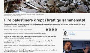 Faksimile av NRK sitt oppslag på nrk.no lørdag.