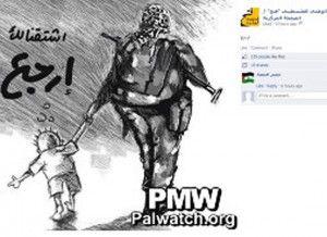 Denne tegningen ble publisert på Fatahs Facebook-profil 11. mars.