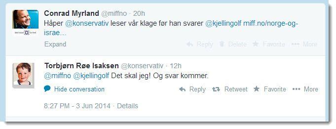 Kunnskapsminister Torbjørn Røe Isaksen lover å lese MIFFs klage.