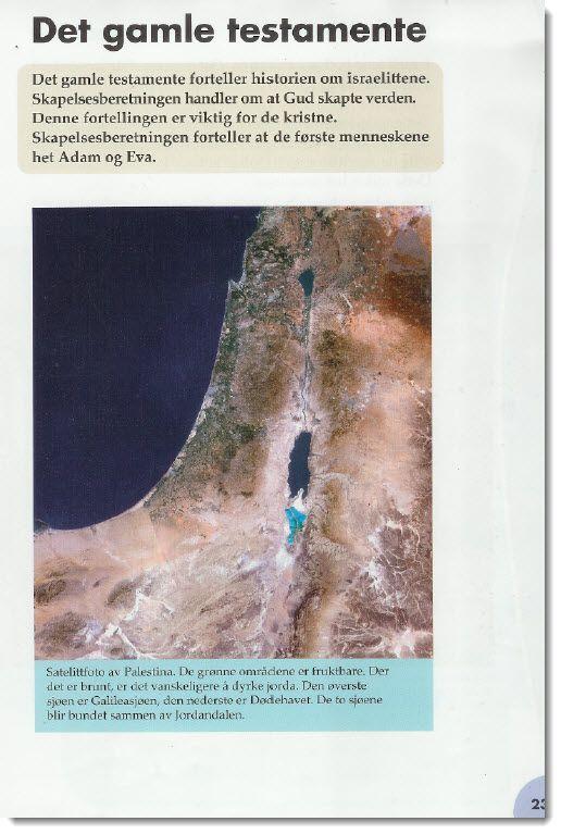 Faksmile av side 23 i boken Vi i verden 4.