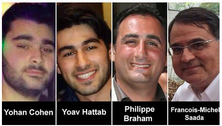 Terrorofrene for angrepet mot kosher-butikken i Paris 9. januar 2015. (Foto via ynetnews.com)