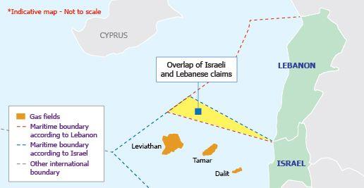 De israelske funnområdene ligger langt utenfor sonen hvor det er overlapp mellom israelske og libanesiske krav.