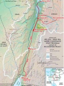 Kartet viser planen for vannprosjektet.
