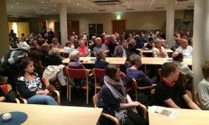 Stort oppmøte i MIFF Stavanger mandag kveld. (Foto: Privat)