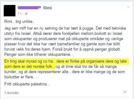 Denne Facebook-brukeren (anonymisert av MIFF), synes MIFF er flinke til å late som vi er det norske folk.