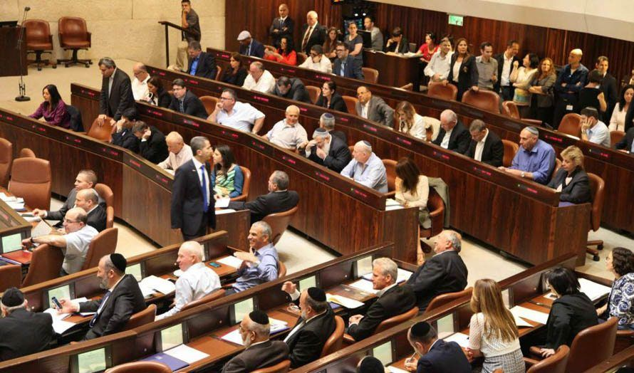 Fra Knesset-sesjonen 13. mai. (Illustrasjonsfoto: Knesset)