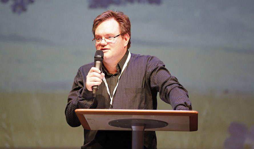 Styreleder Morten Fjell Rasmussen ønsket velkommen til MIFFs landsmøte 2015. (Foto: Tor-Bjørn Nordgaard)