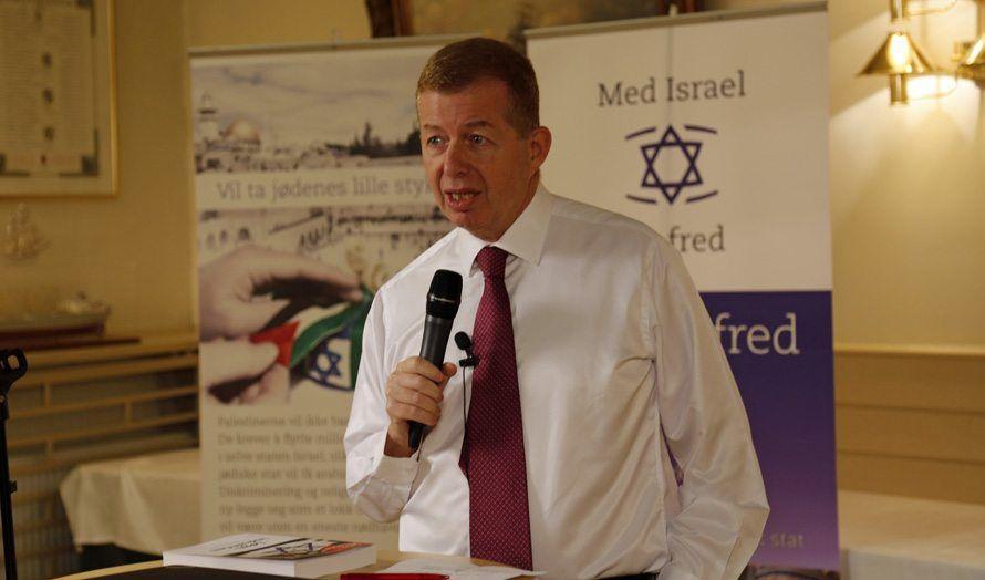 Israels ambassadør Raphael Schultz holdt foredrag på MIFF Forum. (Foto: Tor-Bjørn Nordgaard)