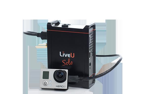 LiveU Solo koblet til et GoPro-kamera (Foto: LiveU)