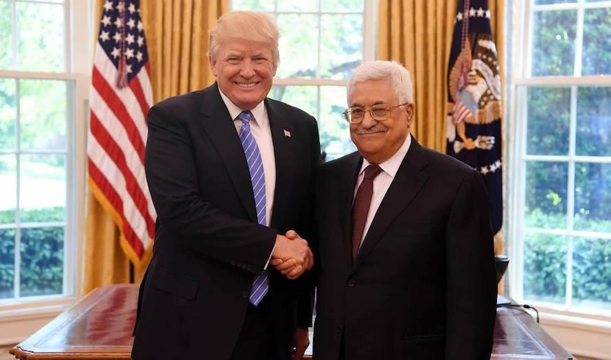 Trump og Abbas møttes i det hvite hus onsdag 3. mai. (Foto: Facebook)