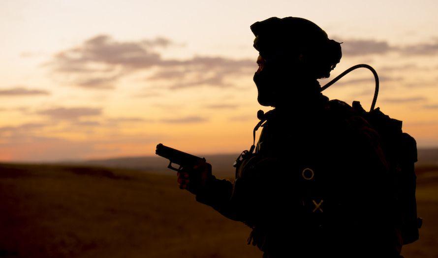 En israelsk soldat deltar på en antiterror-øvelse i Judea og Samaria. (Foto: IDF/Flickr)