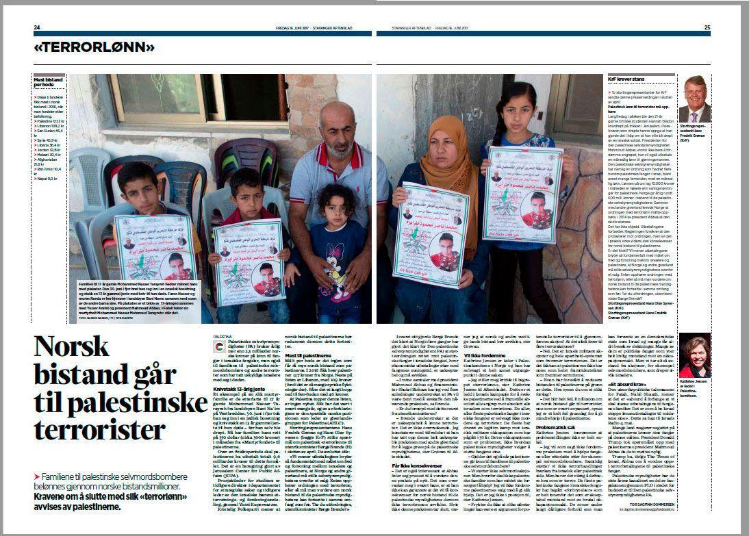Faksmile fra Stavanger Aftenblad 16. juni 2017.