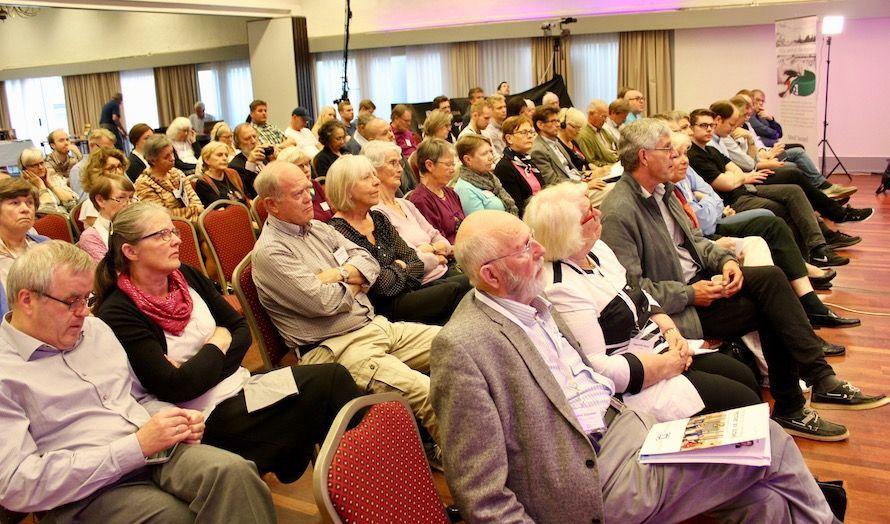 Publikum fulgte spent med på foredraget til den palestinske menneskerettighetsaktivisten.
