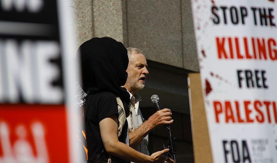 Corbyn har deltatt på en rekke anti-israelske demonstrasjoner. (Foto: David Hardman)
