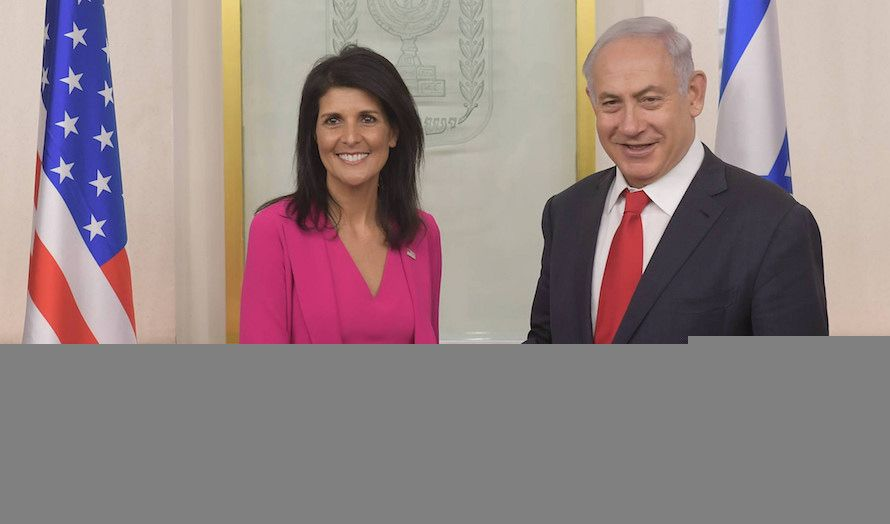 USAs FN-ambassadør var onsdag i møte med Israels statsminister Benjamin Netanyahu. (Foto: Amos Ben Gershom)