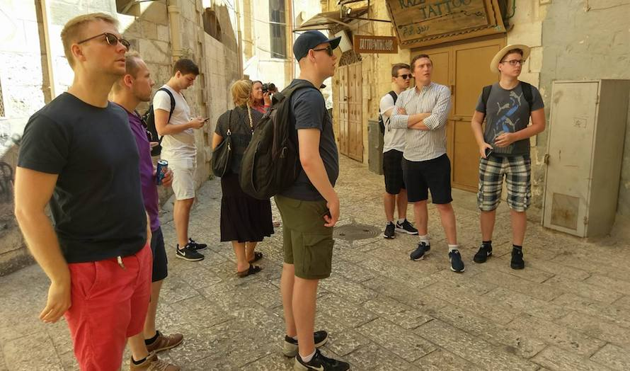 Mange av deltakerne på turen opplever Jerusalem og Israel for første gang. (Foto: Kjetil Ravn Hansen, MIFF)