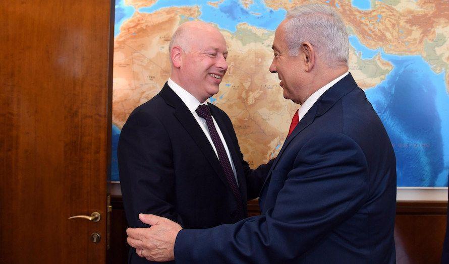 Greenblatt er i Midtøsten for å jobbe videre mot en fredsavtale. Han har blant annet møtt Benjamin Netanyahu. (Foto: Haim Zach)
