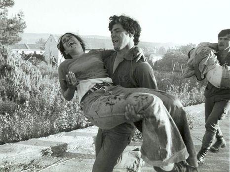 Fra Ma'alot-massakren 15. mai 1974 (Foto: Israel Simionescu/Israel Sun)
