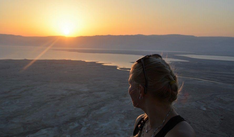Det å oppleve soloppgangen fra Masada ble en opplevelse for livet. (Foto: Nadia Fugleberg)