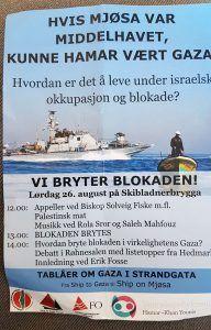 Arrangørene deler ut denne invitasjonen i Hamar. (Faksmile)