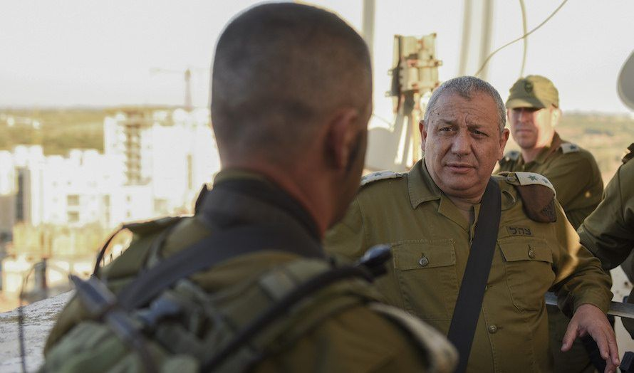 Det var stabssjef Gadi Eizenkot som tok initiativet til øvelsen. (Foto: IDF)